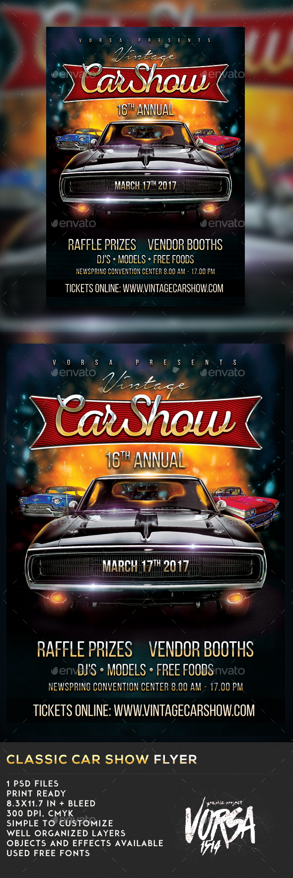 Classic Car Show Flyer - Events Flyers