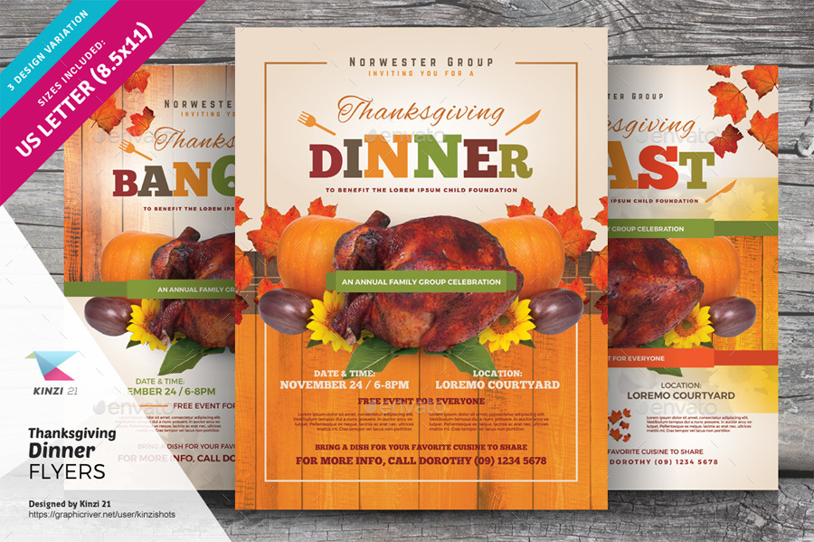 Dinner Flyer Template  BesikEightyCo