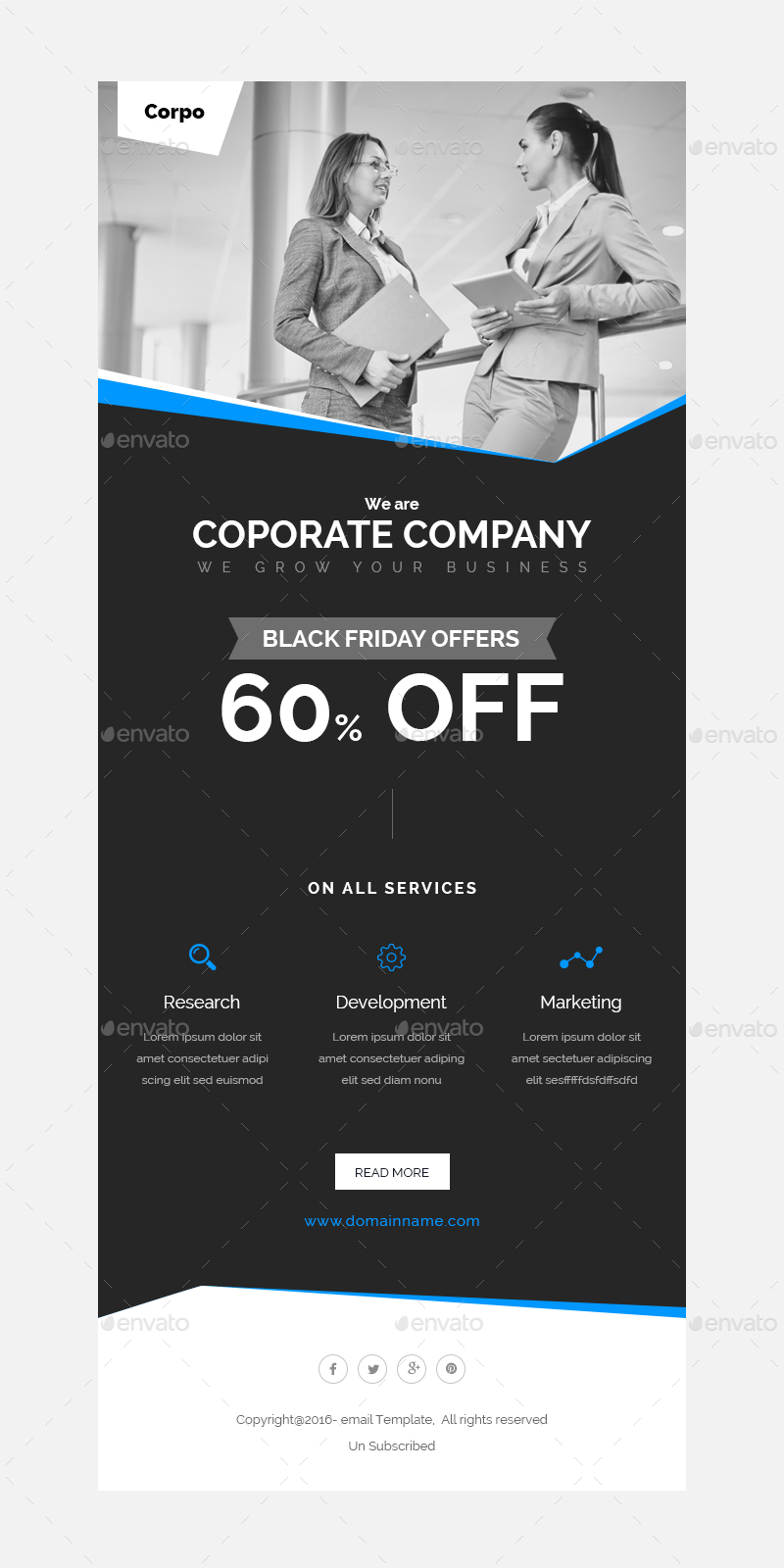 Black Friday - Shopping Offers Email Template PSD by Kalanidhithemes