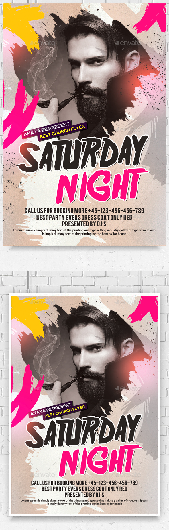 Dance Music DJ Flyer - Clubs & Parties Events