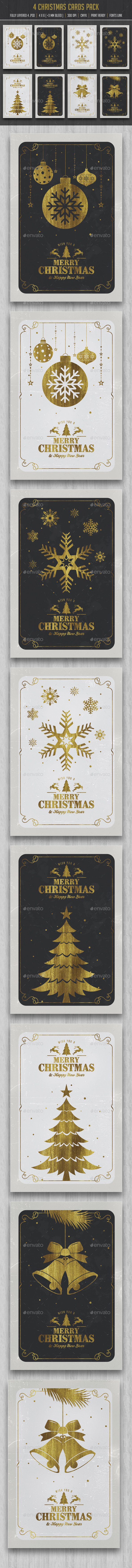 Christmas Cards Pack - Cards & Invites Print Templates