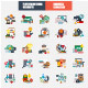 Flat Education Icons Concept - GraphicRiver Item for Sale