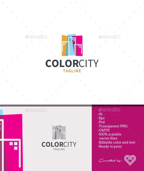 Color City - Buildings Logo Templates