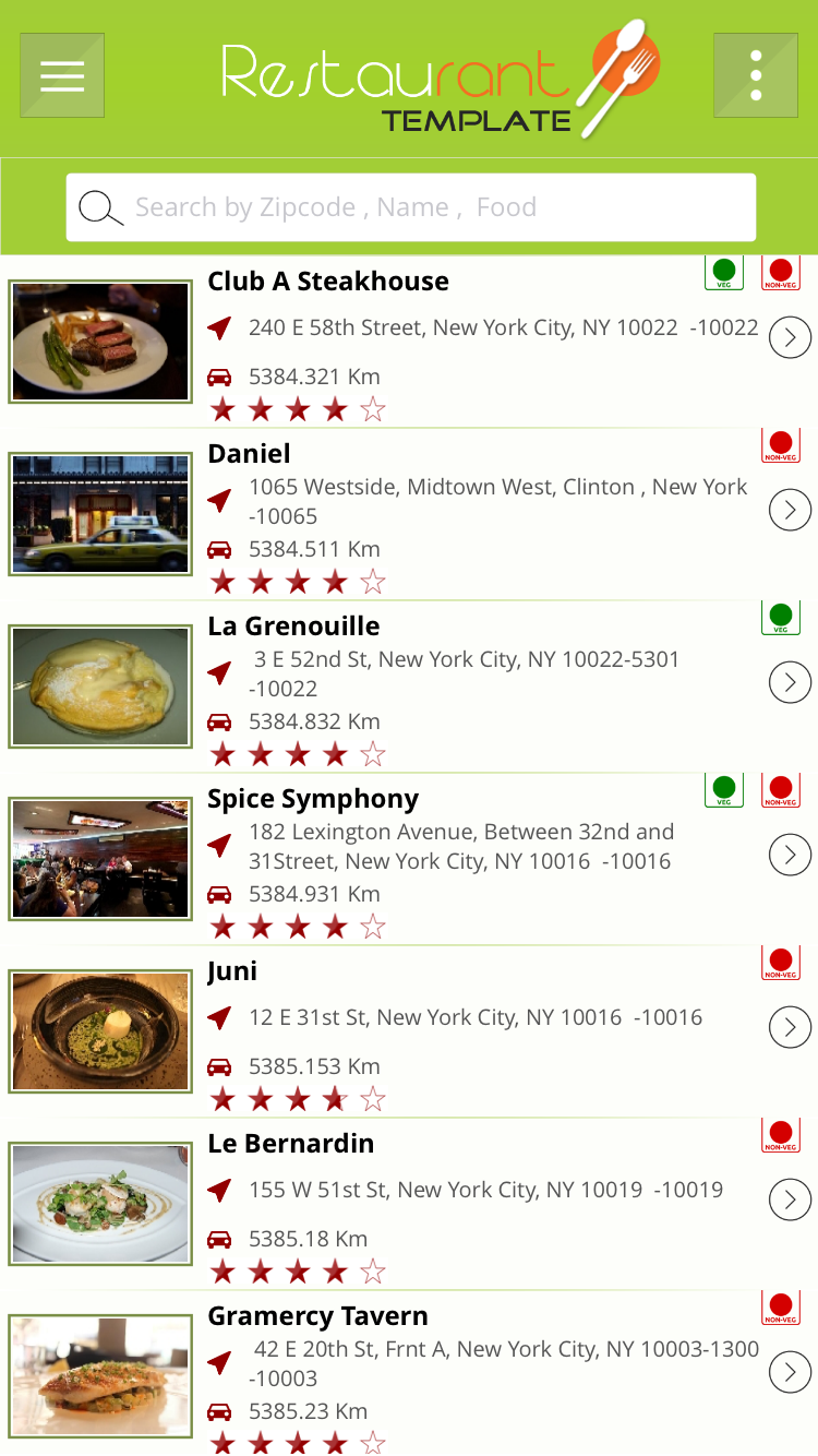 Restaurants finder With Backend Support IOS Full Application