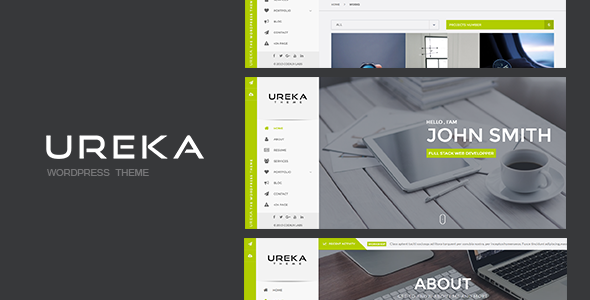 UREKA - Responsive Vcard WordPress theme