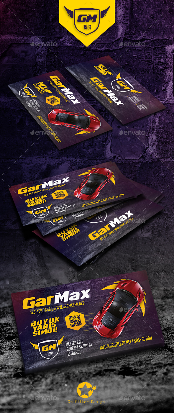 Auto Show Business Card Templates - Corporate Business Cards