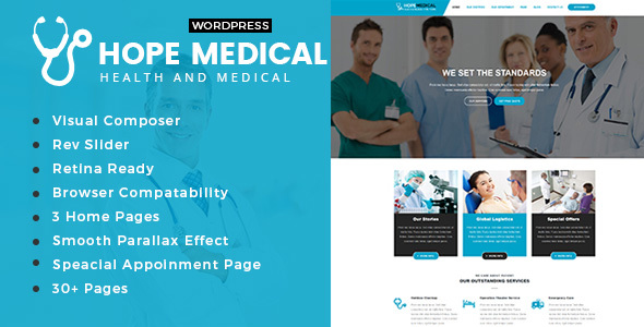 Hope Medical – Health And Medical WordPress Theme