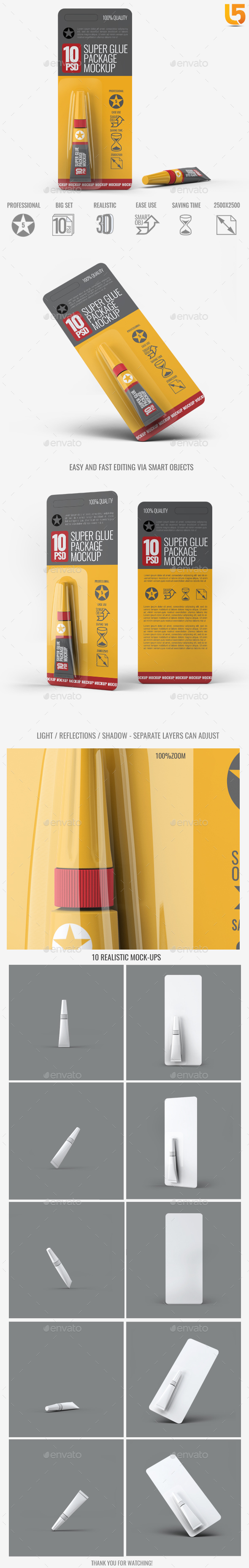 Super Glue Packaging Mock-Up - Miscellaneous Packaging