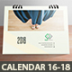 Clean Desktop Calendar 2016, 2017, 2018 - GraphicRiver Item for Sale