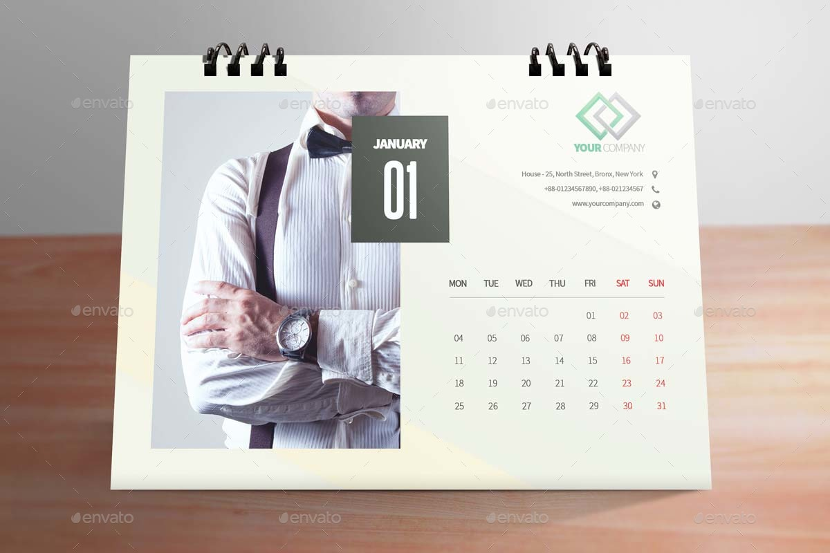 Clean Desktop Calendar 2016 2017 2018 By Firudra