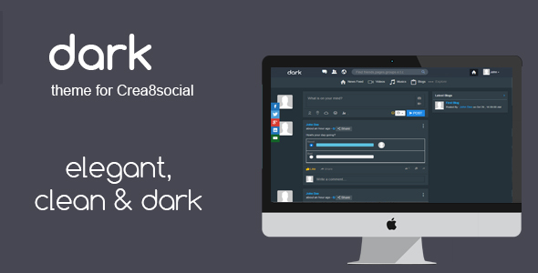 Dark Theme for Crea8social