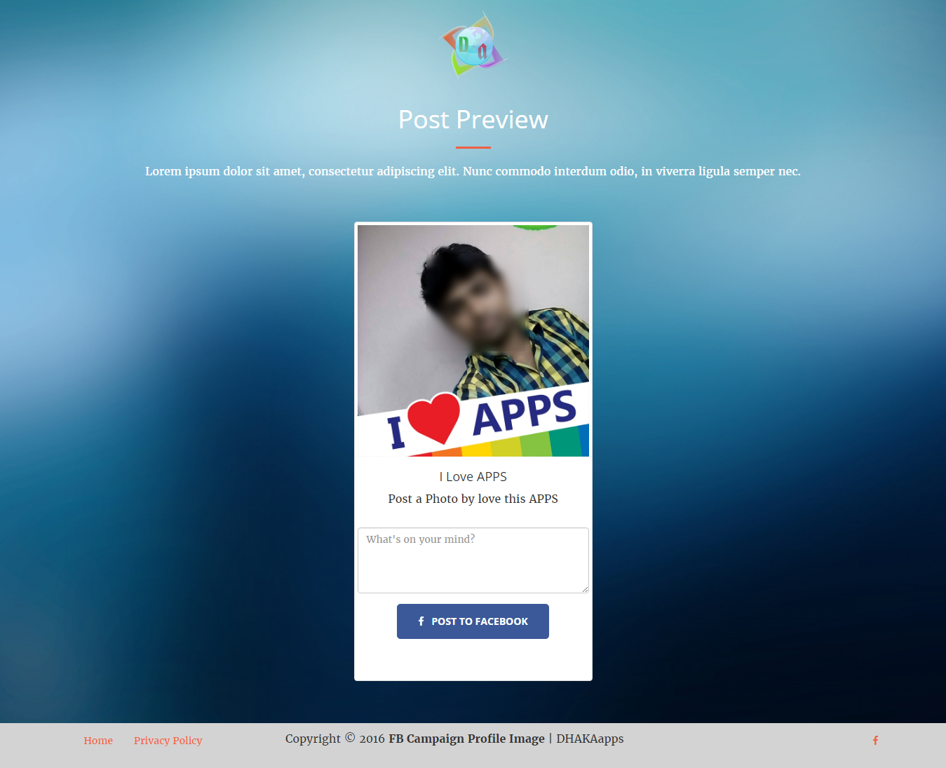 Fb Campaign Profile Image Cms By Dhakaapps Codecanyon