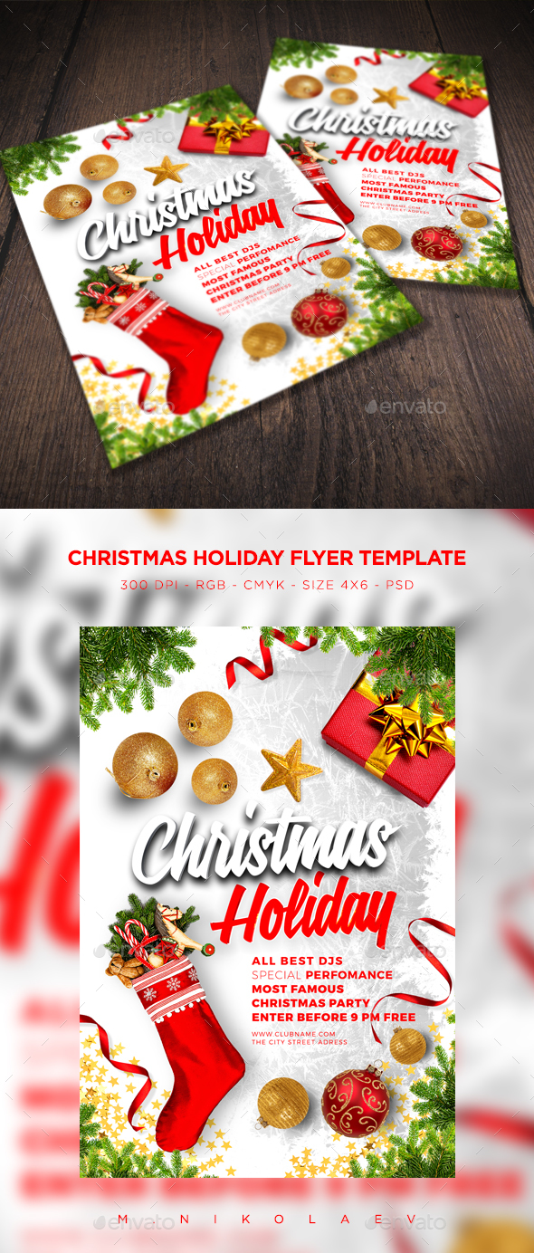 Christmas Holiday Flyer V2 - Clubs & Parties Events