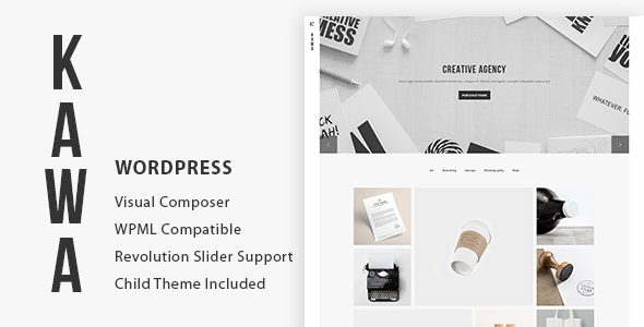 KAWA – Agency and Portfolio WordPress Theme