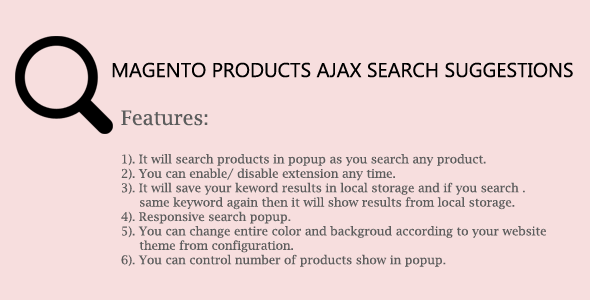 Magento Products Ajax Search Suggestions - CodeCanyon Item for Sale