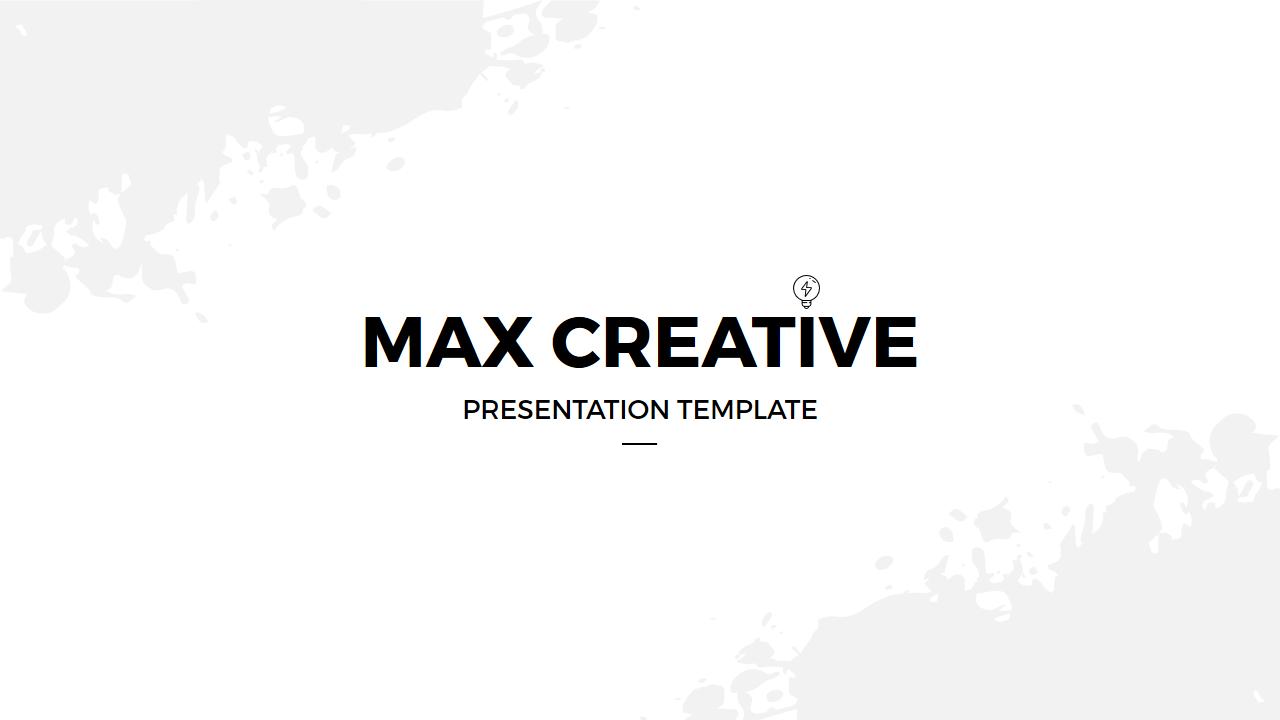 Max Creative Keynote Template