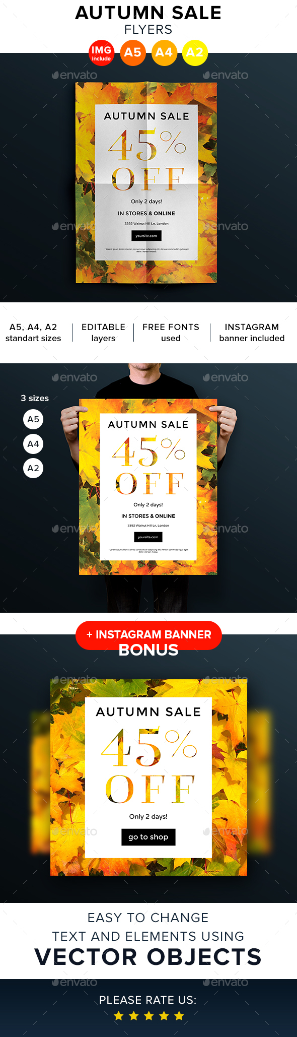 Autumn Sale Flyers and Posters - Flyers Print Templates