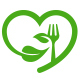 Love Organic Food Logo