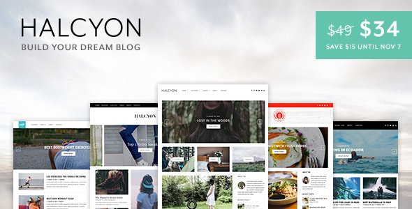 Halcyon – A Multipurpose WordPress Blog Theme
