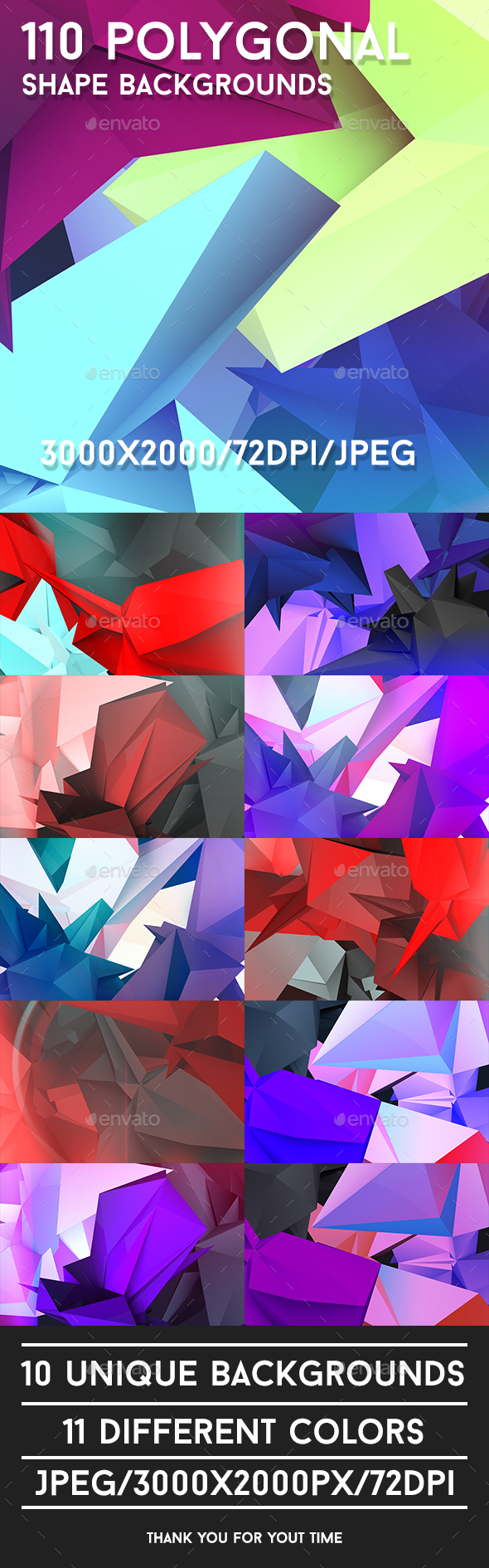 110 Polygonal Shape Backgrounds - Abstract Backgrounds