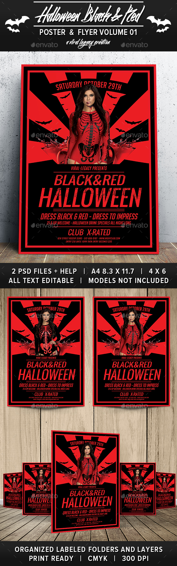 Black & Red Halloween V01