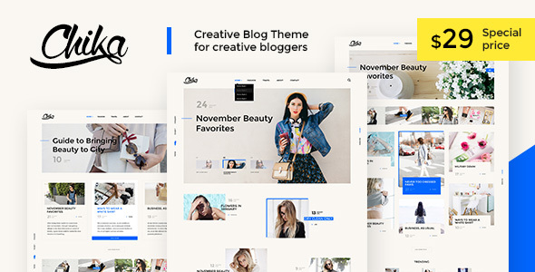 Chika – Creative WordPress Blog Theme