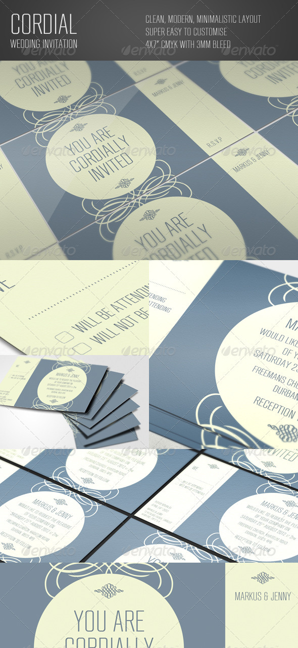 Cordial Wedding Invitation - Weddings Cards & Invites