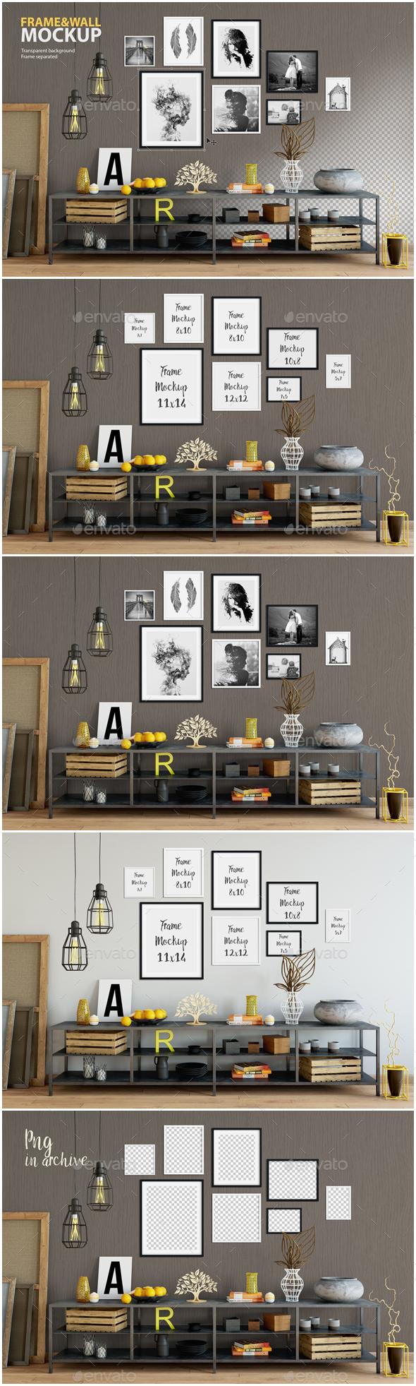 Frame & Wall Mockup 06 - Posters Print