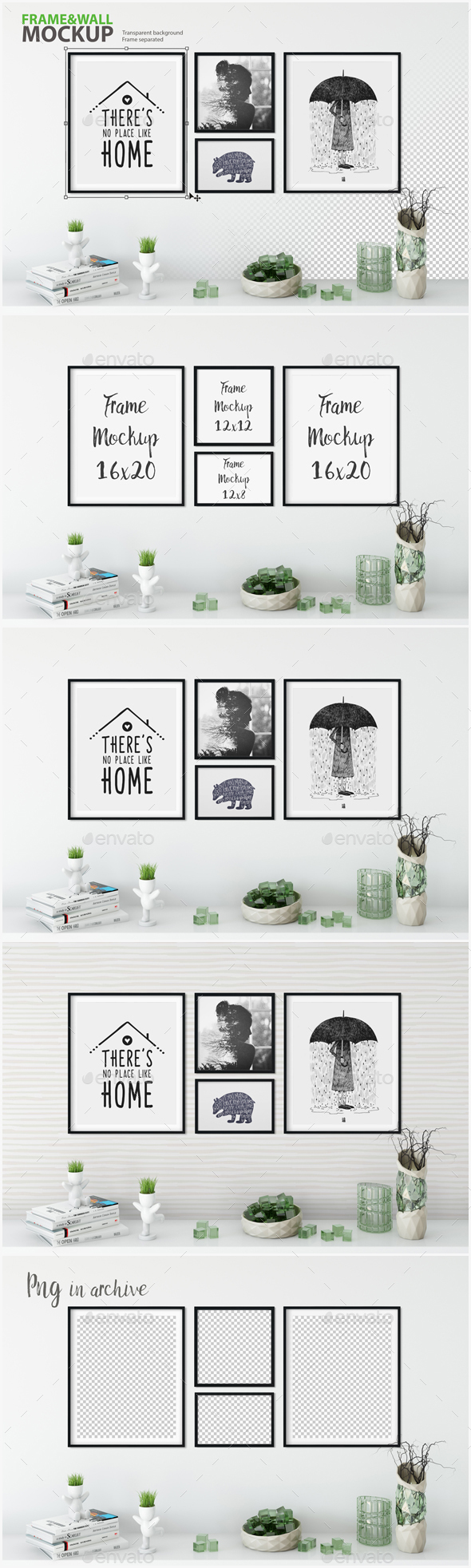 Frame & Wall Mockup 07 - Posters Print