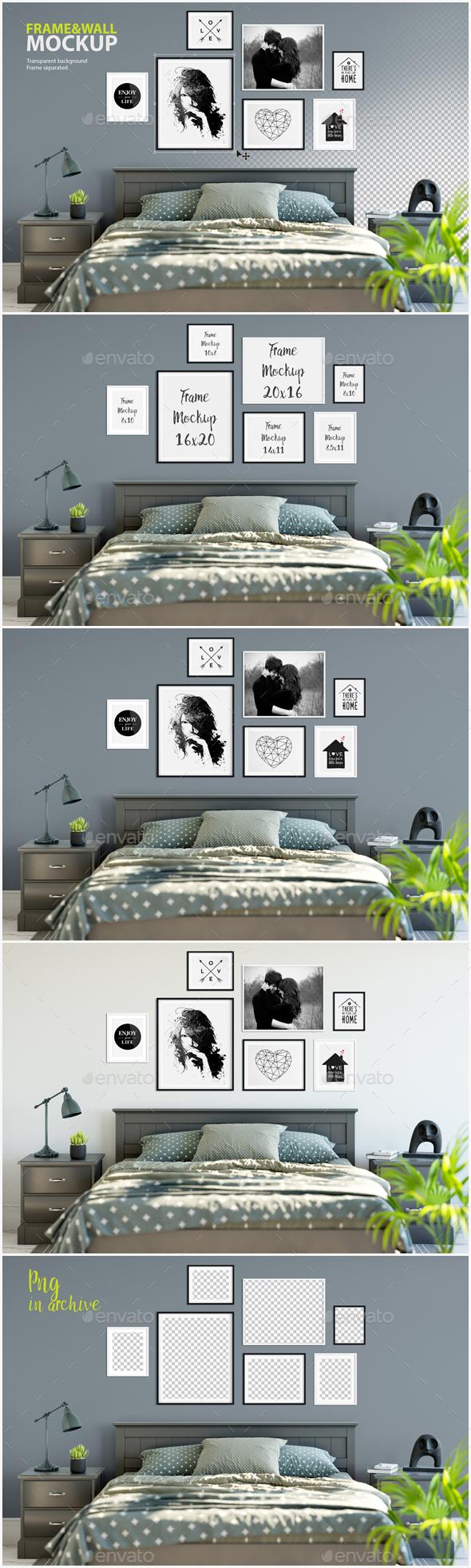 Frame & Wall Mockup 08 - Posters Print