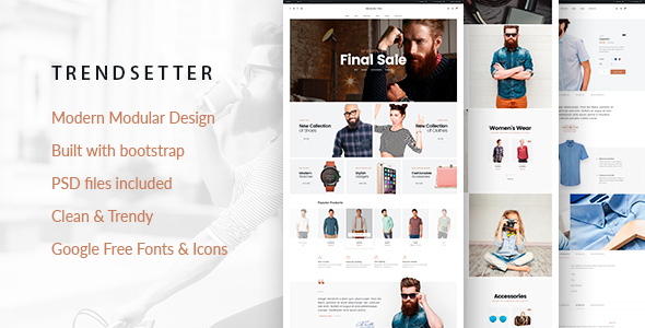 Trendsetter – e-Commerce HTML  template