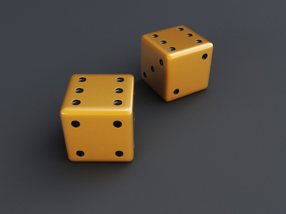 Backgammon dice - 3DOcean Item for Sale