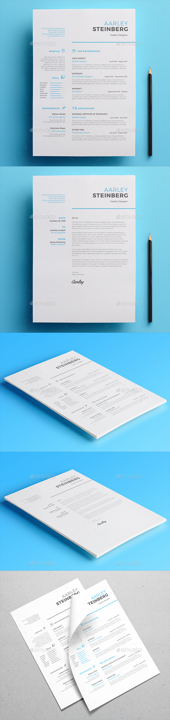 minimalist resume by aarleykaiven graphicriver