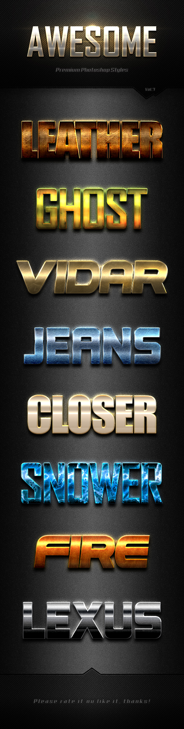 Photoshop Text Effects Vol.7 - Text Effects Styles