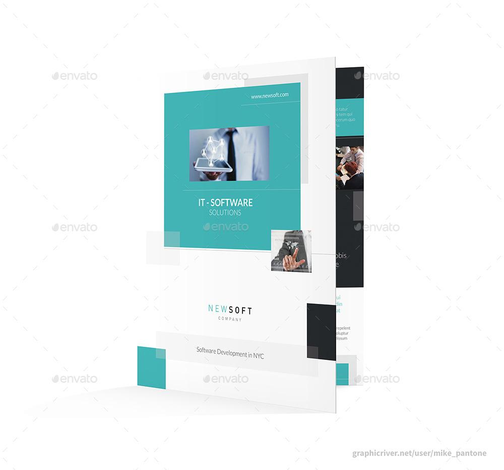 Software Company Bifold / Halffold Brochure