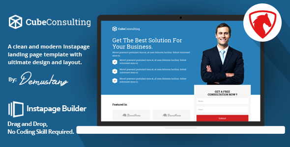Cube Consulting - Instapage Landing Page Template - Instapage Marketing
