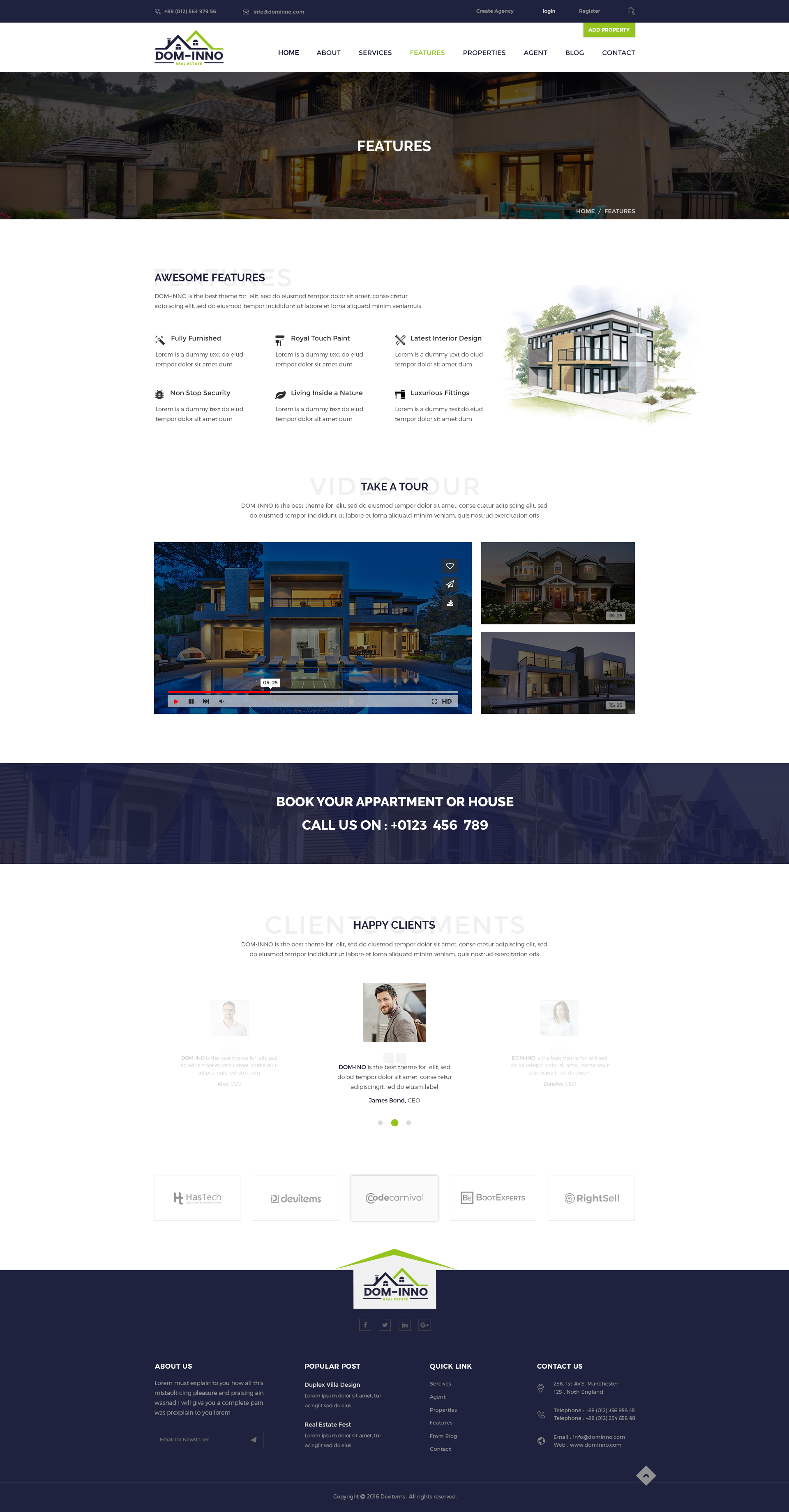 dom inno real estate psd template by devitems themeforest