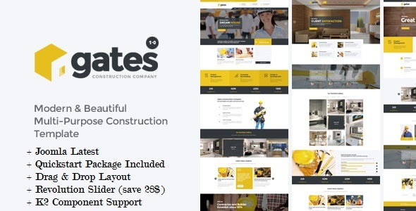 Gates – Multi-Purpose Construction Joomla Template