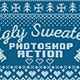 Knitted Ugly Sweater Photosop Action