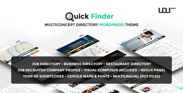 QuickFinder – Multiconcept Directory WordPress Theme