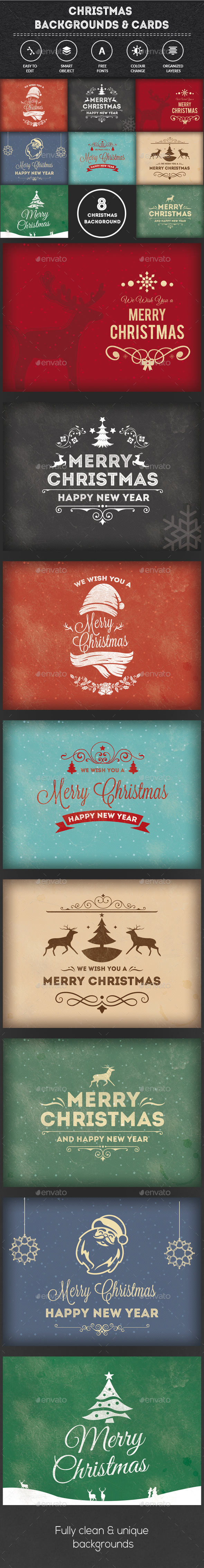 Christmas Backgrounds-Cards - Backgrounds Graphics