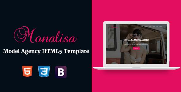 Monalisa – Model Agency HTML5 Template