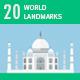 20 World Landmarks - VideoHive Item for Sale