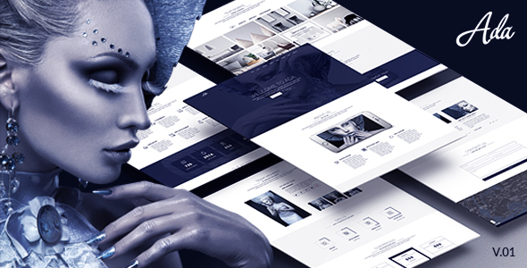 Ada - One Page PSD Template - Creative PSD Templates