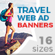 Travel & Holidays Ad Banners - GraphicRiver Item for Sale
