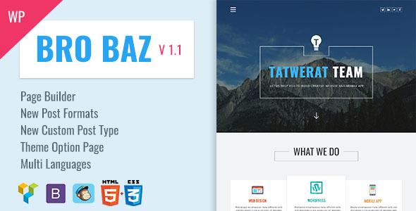 BroBaz - Corporate & Blog WordPress Theme
