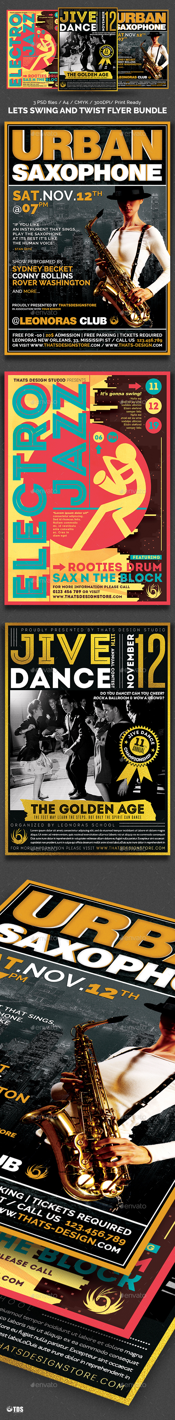 Lets Swing and Twist Flyer Bundle - Concerts Events