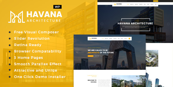 Havana - Architecture, Interior and Design WordPress Theme