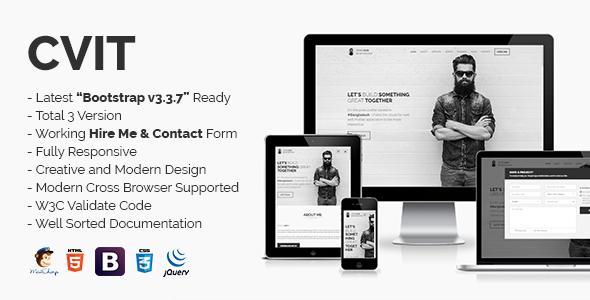 CVIT | Multipurpose Personal Portfolio / vCard / CV / Resume Template