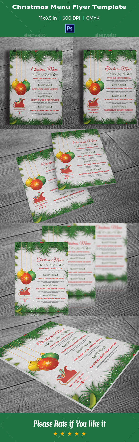 Christmas / Holiday Menu Template -V01 - Events Flyers
